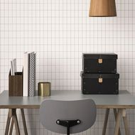 grid wallpaper ferm living