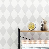 harlequin grey wallpaper ferm living