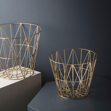 nordicthink wire basket ferm living. Black Bedroom Furniture Sets. Home Design Ideas