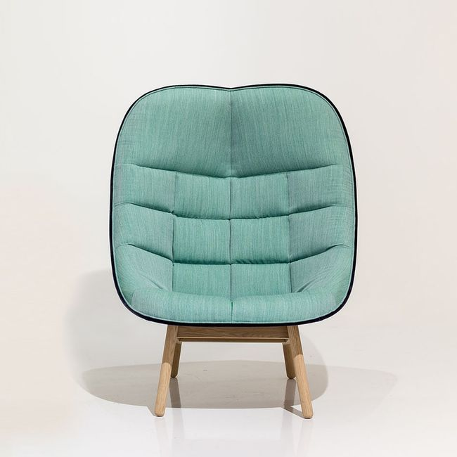 Nordicthink Uchiwa Quilted Lounge Chair Hay