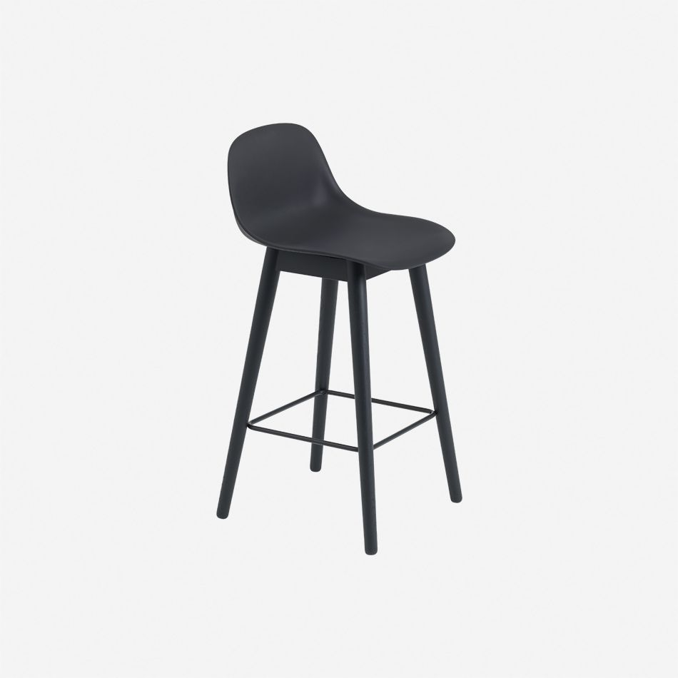 Nordicthink Fiber Bar Stool Wood Base Muuto