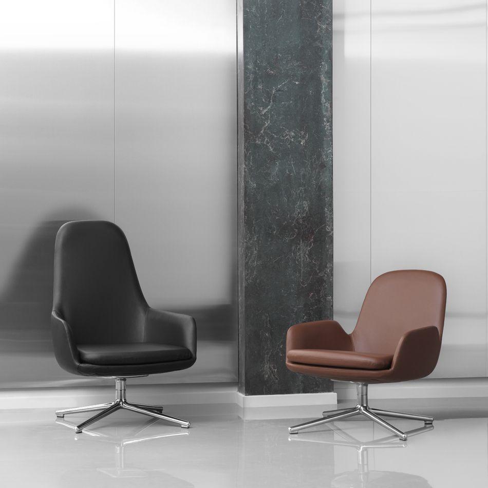 Nordicthink Era Lounge Chair Low Swivel Legs Normann